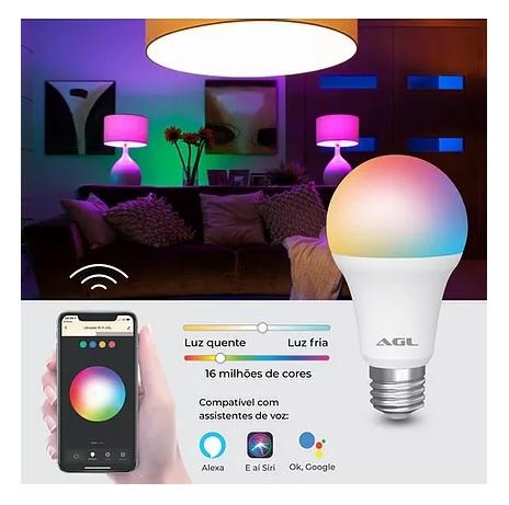 AGL LAMPADA INTELIGENTE WIFI RGB