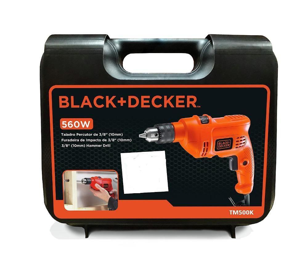 BLACK E DECKER FURADEIRA IMPACTO 3/8 560W + MALETA - 220V