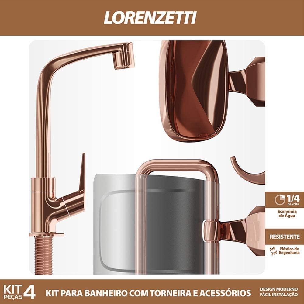 Kit Flatt 4 Peças Rose Gold 2004 F71 Lorenzetti