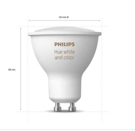PHILIPS LÂMPADA LED HUE 5.7W GU10 BLUETOOTH - 220V