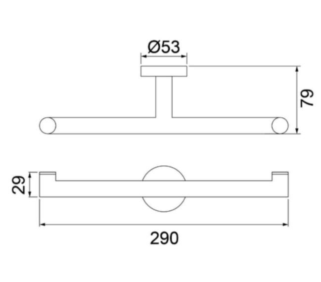 Suporte Lorensoft Duplo Para Toalha 2022 B82 - Lorenzetti