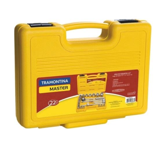 TRAMONTINA MALETA 43600/022 C/SOQUETES E ACES 1/2 22PC