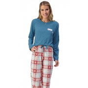 Pijama Xadrez Longo Lua Encantada 10100085