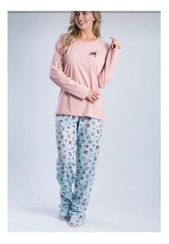 Pijama Composê Aplik Cereja - 015000013