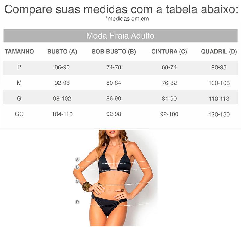 Maiô Acqua Rosa Com Bojo Califórnia Henna Plus Size 12775