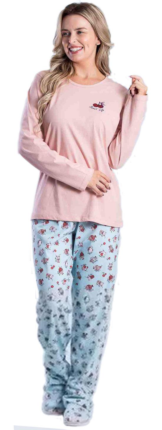Pijama Composê Aplik Cereja 015000013