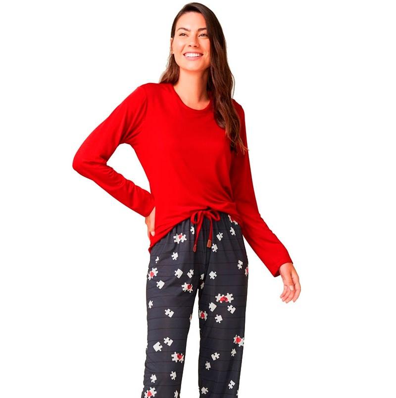 Pijama De Viscose Stretch Recco 14716v