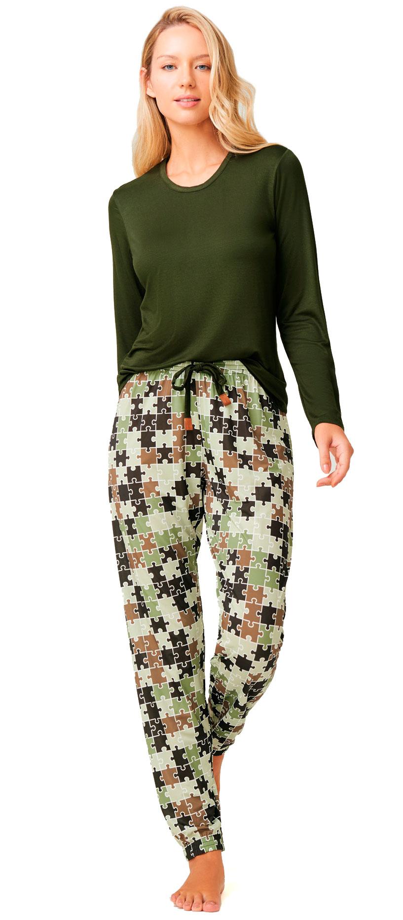 Pijama De Viscose Stretch Recco 14716vm
