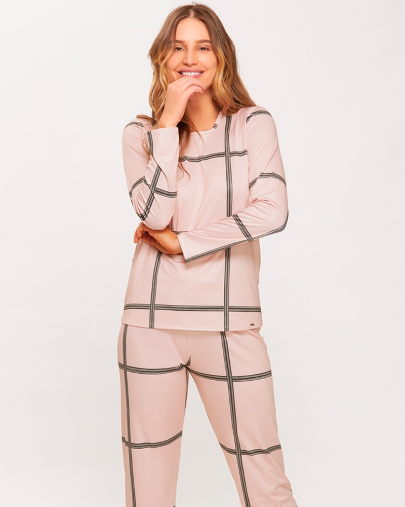 Pijama Longo Confort Flanelado Recco 14609