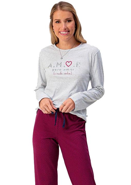 Pijama Longo Feminino Lua Encantada 1010092