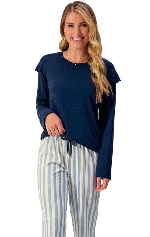 Pijama Longo Lua Encantada Em Viscolycra 10100074