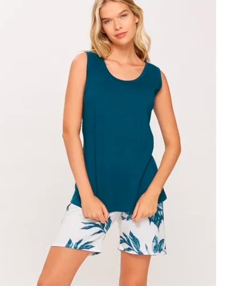 Pijama Regata Verde Recco 14298