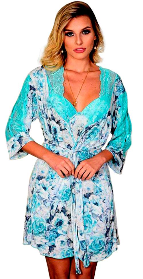Robe Curto Estampado Del laras 02814