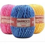 Kit 7 Barbante Barroco Multicolor 200g Cores Variadas