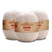 Barbante Barroco Natural 4 Fios 700g Kit Com 5 Unidades