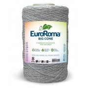 Barbante Euroroma nº8 1,8kg Cinza