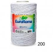 Barbante Euroroma 1.8kg N°6 Kit 3 Unidades Branco