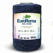 Barbante Euroroma 1.8kg N°8 Kit 3 Unidades AZUL MARINHO