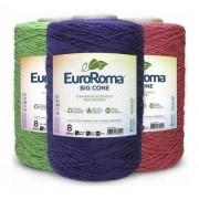 Barbante Euroroma 1.8kg N°8 Kit 5 cores variadas