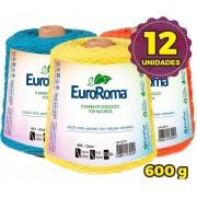 Barbante Euroroma 600g - Nº 6 - Kit 12 Unidades cores Variadas