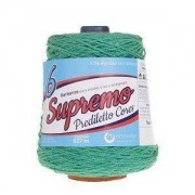Kit 3 Barbante Supremo  600g - Nº6 Verde Bandeira