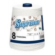 Kit 10 Barbante Supremo 600g N°8 Cor Cru