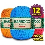 Kit 12 Barbante Barroco Max Color 400g Cores Variadas