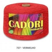 Kit 2 Barbantes Cadori N6 1,8kg Cor Vermelho