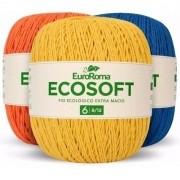 Kit 2 Barbantes Euroroma Ecosoft Nº6 400g Cores Variadas