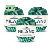 Kit 3 Barbantes Milano 400g Verde bandeira