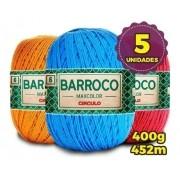 Kit 5 Unidades Barbante Barroco Maxcolor 400g Nº6 Cores Variadas