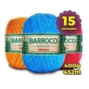 Kit 15 Barbantes Barroco Max Color Cores Variadas