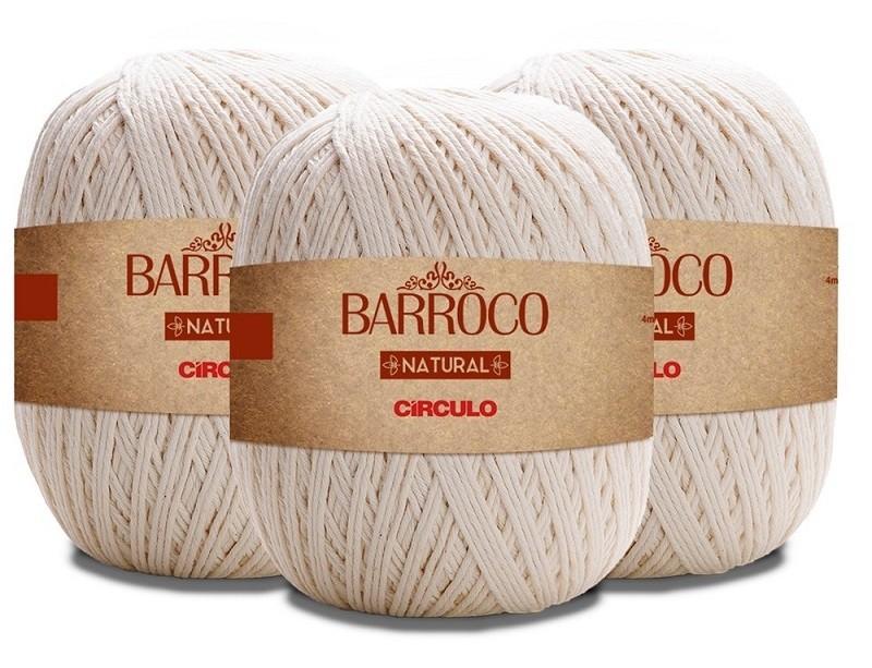 Barbante Barroco Natural 10 Fios 700g Kit Com 5 Unidades