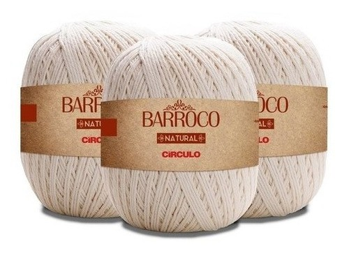 Barbante Barroco Natural 700g Círculo Fio 6 - Kit 4 Unidades
