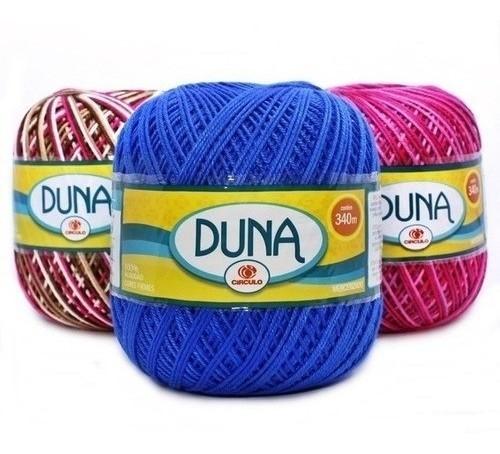 Barbante Duna Círculo - Kit 10 Unidades cores variadas