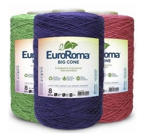 Barbante Euroroma 1.8kg N°6 Kit 10 Unidades cores variadas