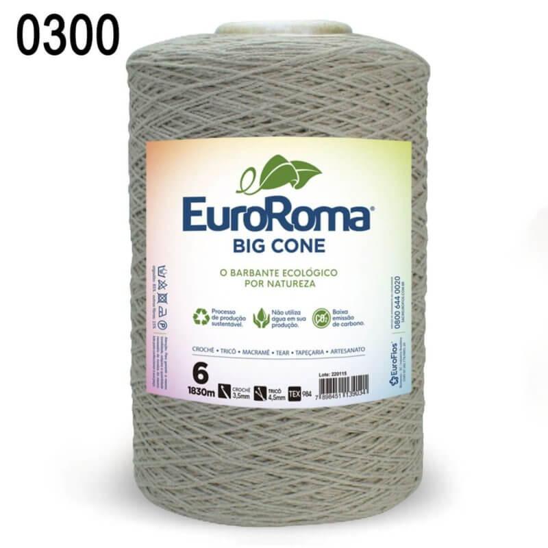 Barbante Euroroma 1.8kg N°6 Kit 3 Unidades CAQUI