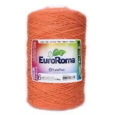 Barbante Euroroma 1.8kg N°6 Kit 3 Unidades Laranja