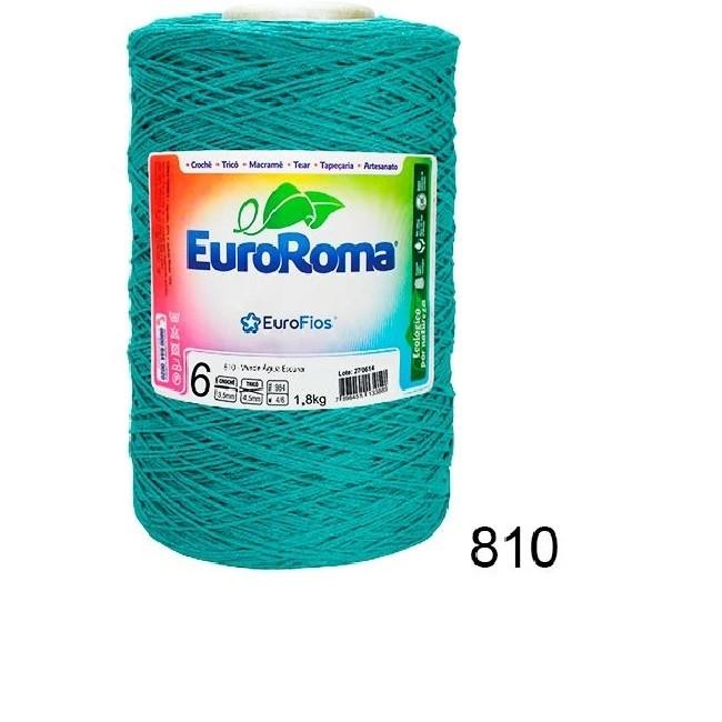 Barbante Euroroma 1.8kg N°6 Kit 3 Unidades Verde Água Escuro