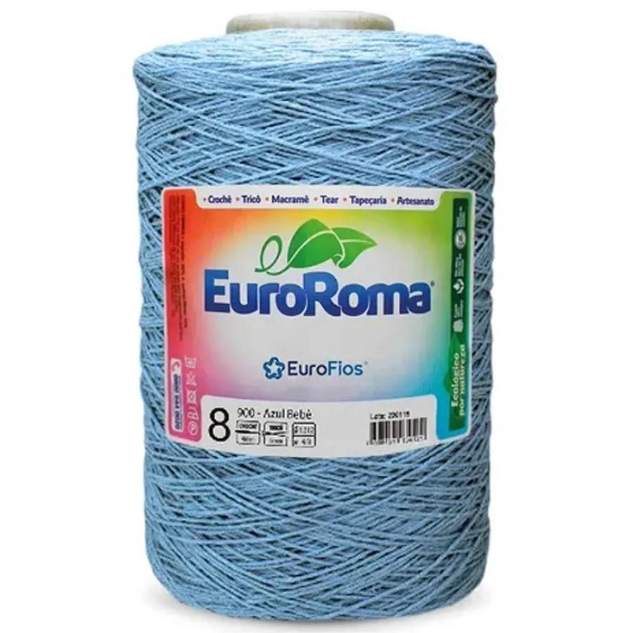 Barbante Euroroma 1,8Kg N8 azul bebe