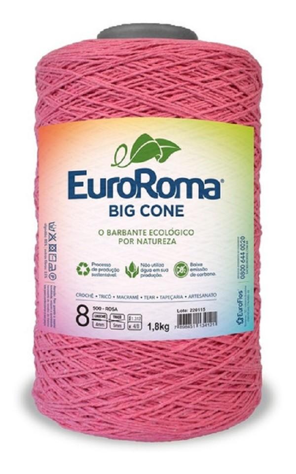 Barbante Euroroma Colorido 1,8Kg N8 Eurofios  ROSA