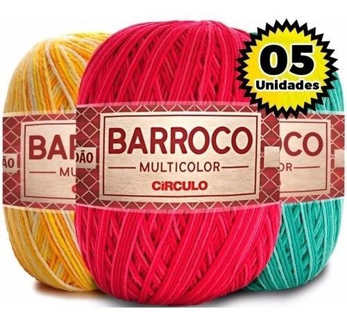 Kit 5 Barroco Multicolor 400g Cores Variadas
