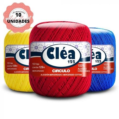 KIT 10 LINHA CLÉIA 125M CIRCULO CORES VARIADAS