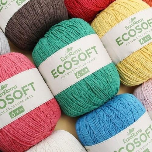 Kit 10  Barbantes Euroroma Ecosoft Nº6 422g Cores Variadas
