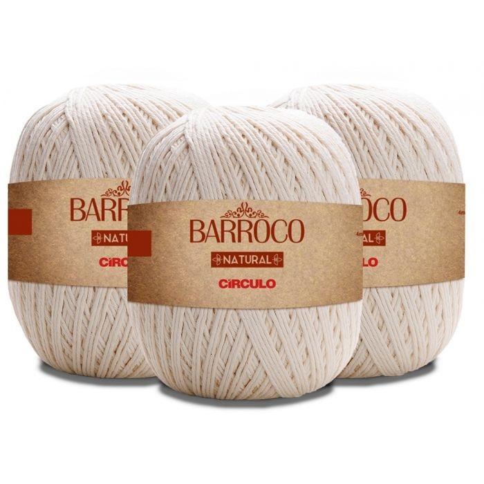 KIT 2 BARBANTES BARROCO NATURAL 791M N°6 COR 20