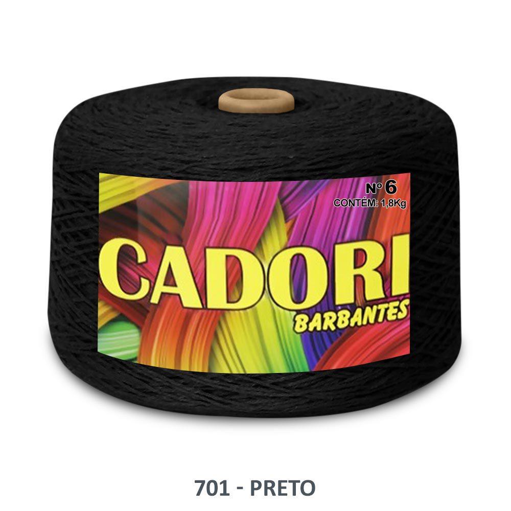 kit 3 Barbante Cadori N06 - 1,8KG Preto