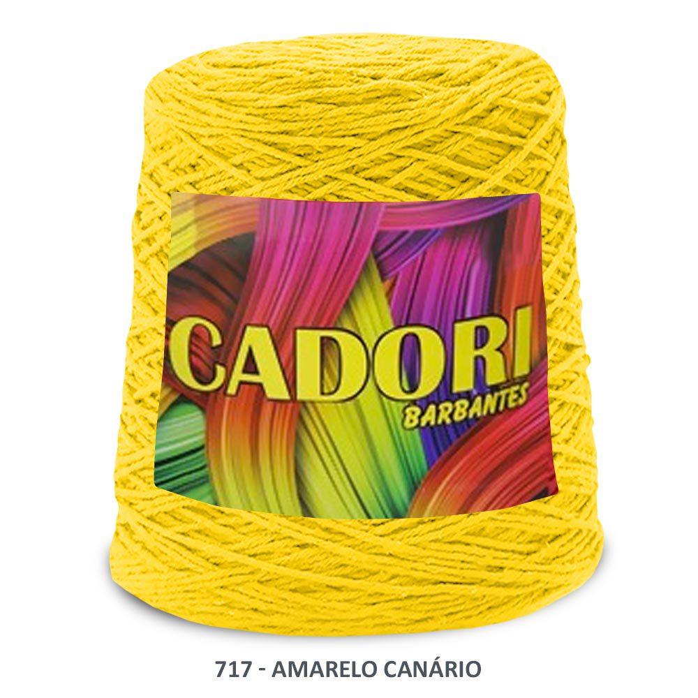 kit 3 Barbante Cadori N06 - 700m Amarelo Canario