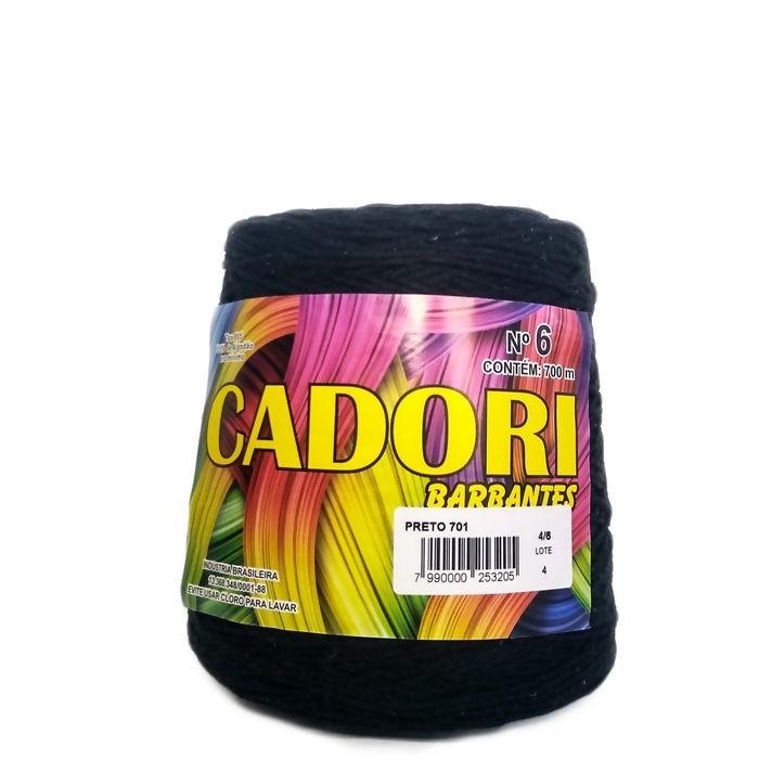 kit 3 Barbante Cadori N06 - 700m Preto