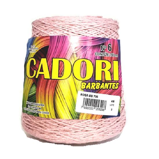 kit 3 Barbante Cadori N06 - 700m Rosa Bebê