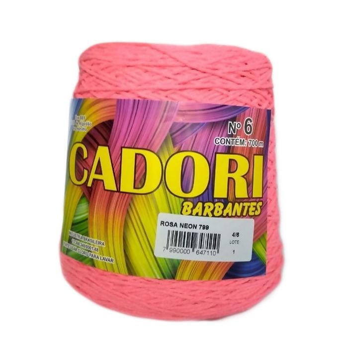 kit 3 Barbante Cadori N06 - 700m Rosa Neon